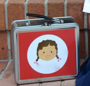 Hey, it's a lunch box that looks like my kid!