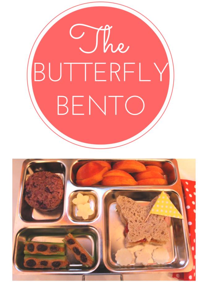 easy butterfly bento box lunch the lunch lady. Black Bedroom Furniture Sets. Home Design Ideas